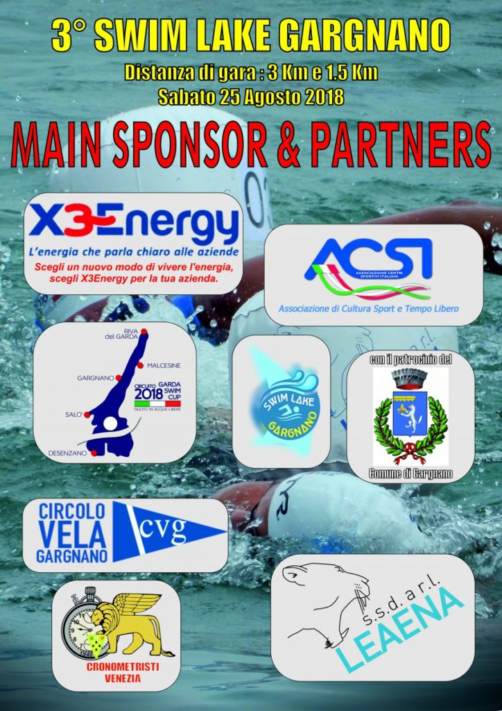 Swim Lake - 2018 - - Main Sponsor & Patner