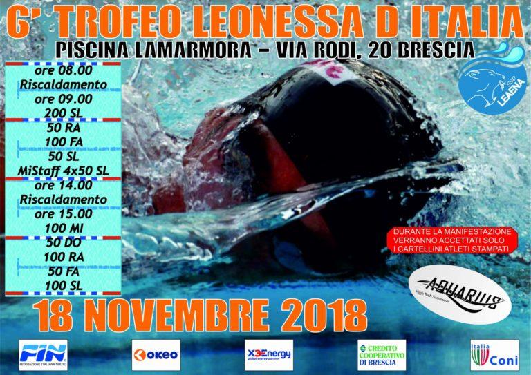 6° Trofeo Leonessa D'italia - fronte
