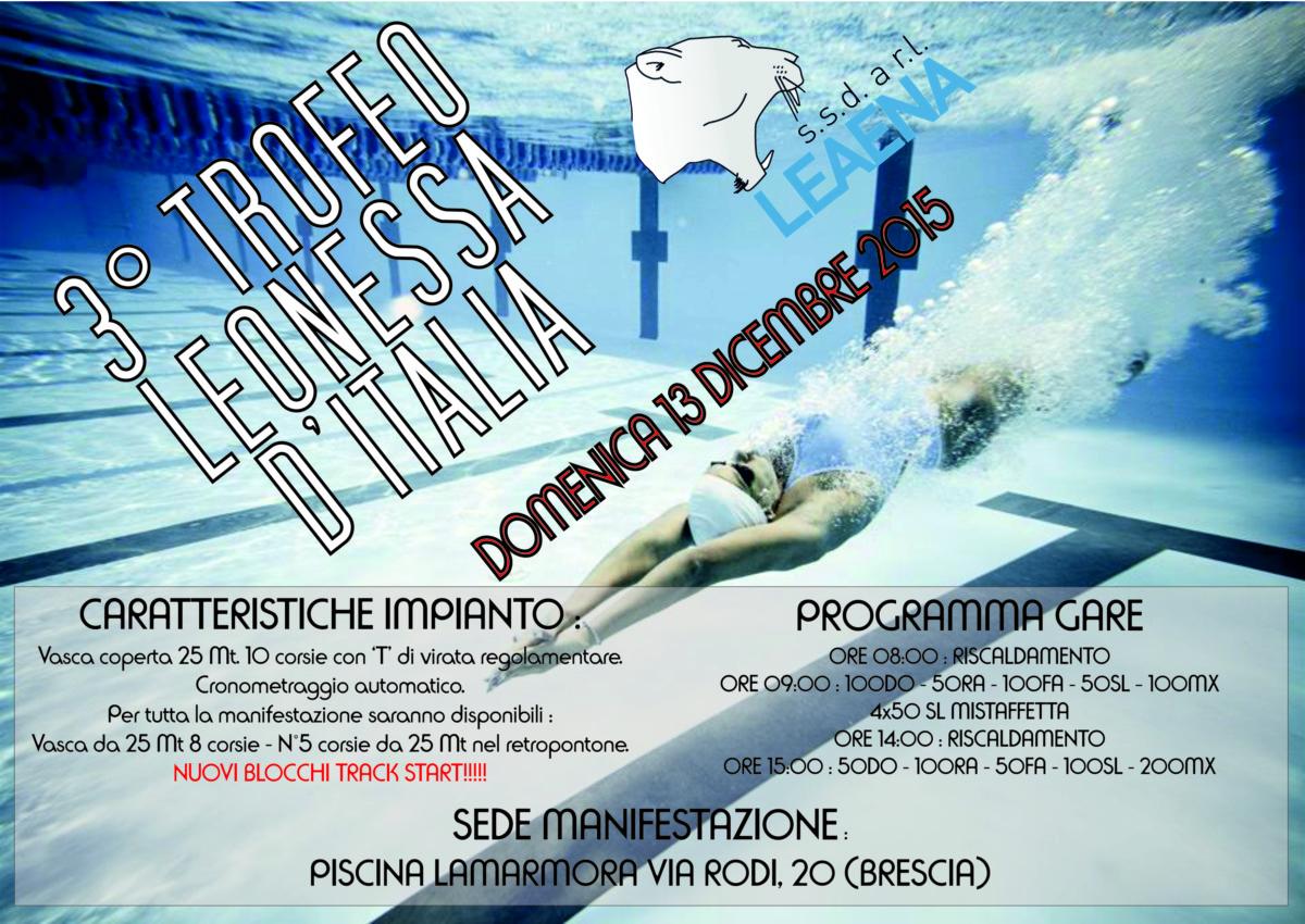 3° Trofeo Leonessa d'Italia – 13 Dicembre 2015 - Locandina - f